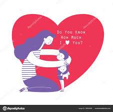 imagenes animadas sobre amor mamá abrazando a su hijo de niño que oso de peluche y hablar con él