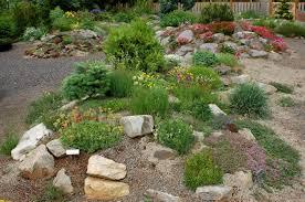 small rock garden berm garden pinterest