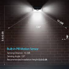 Led Outdoor Sensor Light Motion by 24 Led Outdoor Motion Sensor Solar Lights Wide Angle Design With 3