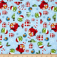 angry birds holly jolly christmas light blue discount designer