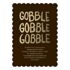 turkey gobble gobble thanksgiving dinner card zazzle