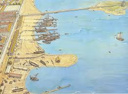 Sardinia Map The Harbor Of Olbia On The Island Of Sardinia Jean Claude Golvin