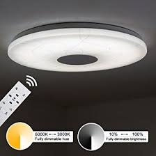dimmable led ceiling lights kusun modern led ceiling lights remote control 2800k 6500k