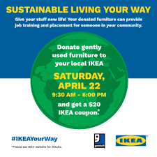 ikea furniture donation celebrate earth day with goodwill ikea charlotte this weekend
