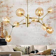 Black Metal Chandeliers Aliexpress Com Buy 9 Heads Modern Glass Chandeliers Gold Black