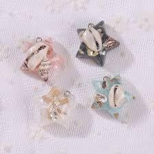 flat back earrings 12pcs resin with shell flat back earring charms