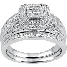 silver diamond rings forever 1 2 carat t w diamond princess sterling silver