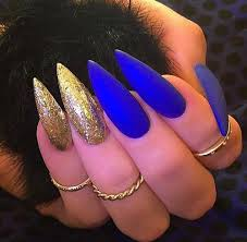 best 25 blue stiletto nails ideas on pinterest claw nails