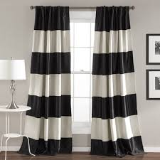 Black And White Drapes At Target by Coffee Tables Sheer Curtain Panels With Designs Black And White