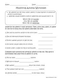 modifying adverbs worksheets englishlinx com board pinterest
