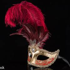 feather mask beautiful venetian masquerade feather mask in gold and burgundy