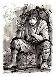 frodo samurai version ink sketch by mycks on deviantart