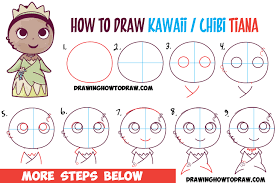 how to draw thanksgiving how to draw cute baby chibi kawaii tiana the disney princess how