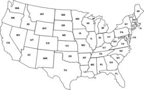 us state abbreviations map usa map with state abbreviations clip at clker com vector