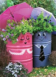 garden container ideas using oil barrel to improve the performance