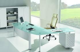 bureau verre trempé le bureau verre un plaisir utile mobilier de bureau