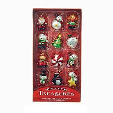 kurt adler h9551 1 25 treasures mini ornament set of 12 ebay