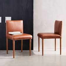 Leather Dining Chair Ellis Faux Leather Dining Chair West Elm