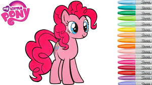 my little pony coloring book pinkie pie mlp video colouring pages