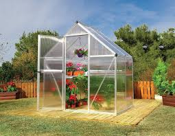 Palram Polycarbonate Greenhouse Palram Mythos 6x4 Ft Silver Greenhouse Twinwall Polycarbonate