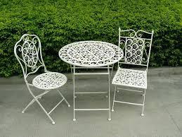white garden bistro set metal bistro patio furniture set in white