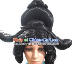 ladies hair pieces for gray hair ancient korean palace lady long black wigs and hair jewelry