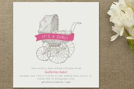 vintage carriage baby shower invitations by minted