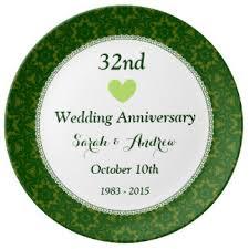 32nd wedding anniversary 32 wedding anniversary gifts on zazzle