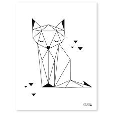 affiche chambre bébé lilipinso affiche pour chambre enfant papier origami play renard