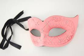 leather masquerade masks mask swirl salmon