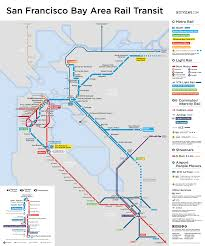 San Francisco Area Map by My Favorite Regional Transit Maps