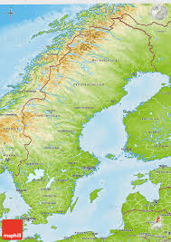 map of sweden physical 3d map of sweden