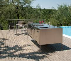 outdoor kitchen islands compact outdoor kitchen island artusi from arclinea