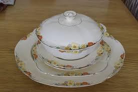 platter plates vintage alfred meakin marigold design platter bowl