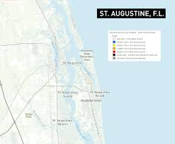 Florida Coast Map Storm Surge Maps Predict Widespread Flooding In Savannah And