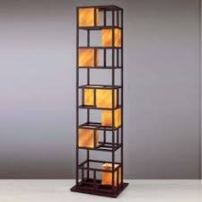 Standing Lamp With Shelves by Artiva Usa Elliot Modern 63 Inch Java Black Finish 3 Tiered Wood
