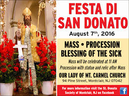 il regno announcing the 6th annual feast of san donato montclair