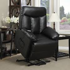 Electric Recliner Lift Chair Electric Lift Chair Recliner Black Renu Leather Power Motion