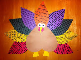thanksgiving projects elementary pattern turkey math