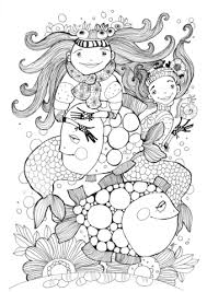 fish mermaids coloring free printable coloring pages