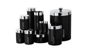 black kitchen canisters sets fair 80 contemporary kitchen canister sets inspiration design of