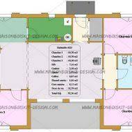 plan de maison plein pied gratuit 3 chambres plan maison moderne maroc