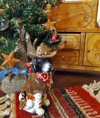 cowboy christmas ornament dog the bandana barker u2013 north pole