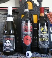 halloween wine labels my spooky drink bar beauteeful living