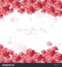Family Day Invitation Card Delicate Pink Roses Card Vector Floral Stock Vector 462812218