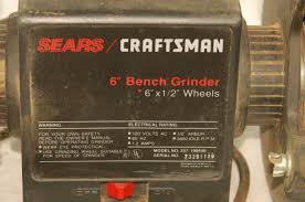 vintage sears craftsman 6 inch bench grinder 257 190440 wheel
