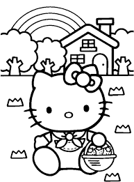 kids kitty coloring pages cartoon coloring pages
