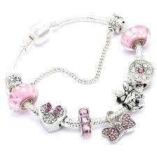 pandora bracelet charm bracelet images Animal mickey charm bracelets bangles women jewelry minnie pink jpg