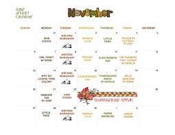 thanksgiving spanish activities previous calendars mann before and after program