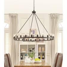 round bronze chandelier large 48 inch wide 24 light edison bulbs